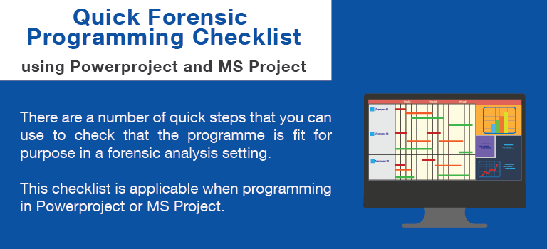 Quick Forensic Programming Checklist