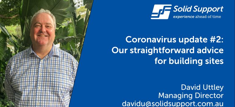 Coronavirus update #2: Our straightforward advice  for building sites